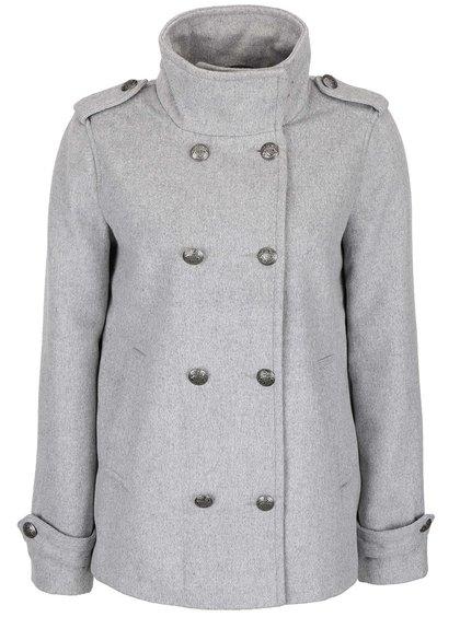 Svetlosivý kratší kabát Vero Moda Abelle