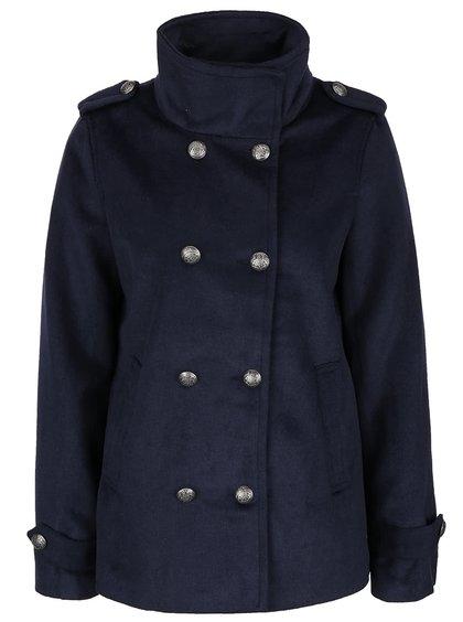 Tmavomodrý kratší kabát Vero Moda Abelle