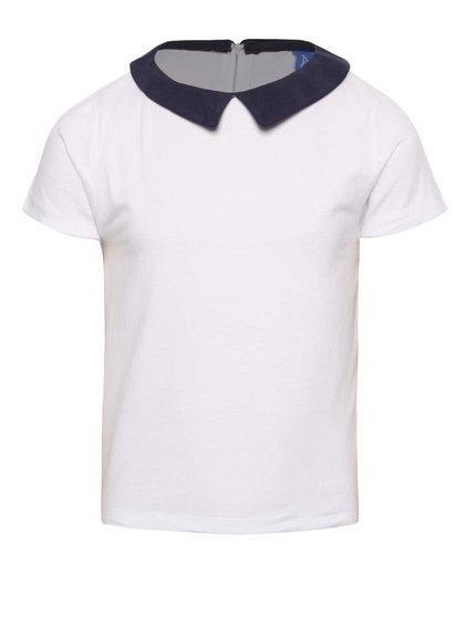 Tricou alb 5.10.15. cu guler pentru fete