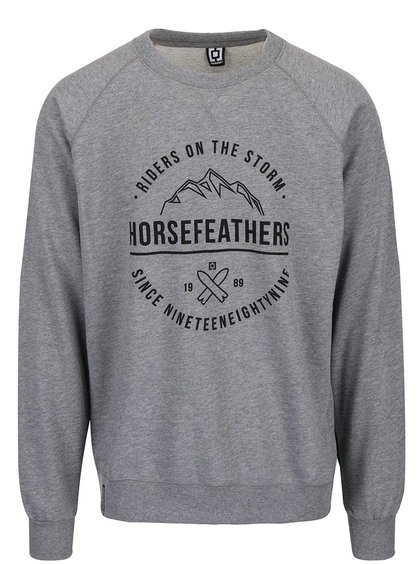 Bluză sport gri Horsefeathers Timothy cu logo print