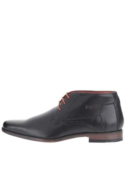 Čierne pánske kožené členkové topánky bugatti Viktor