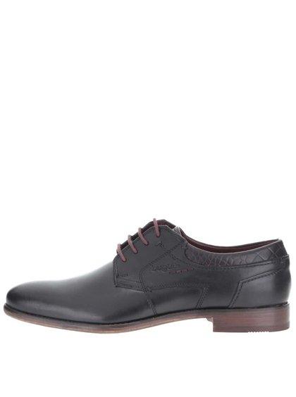 Pantofi bugatti Bettino LC bărbătești negri din piele