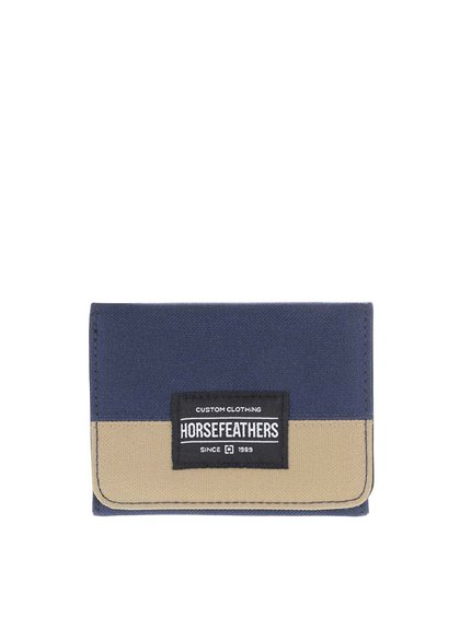 Modrá pánska peňaženka s kaki pruhom Horsefeathers Waller