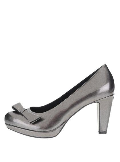 Pantofi cu toc bugatti Haven gri metalic