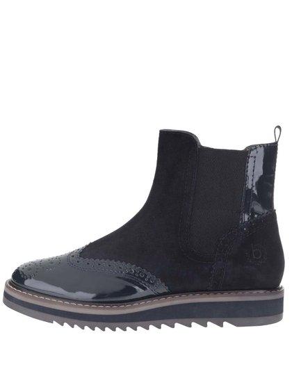 Tmavomodré dámske semišové chelsea topánky bugatti Fee