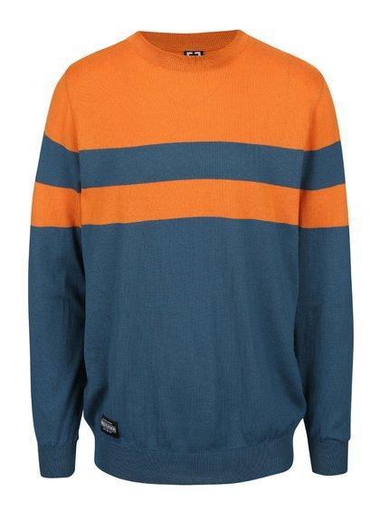 Oranžovo-zelený pánský svetr s pruhem Horsefeathers Walton