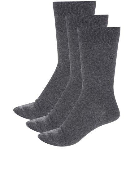 Súprava troch sivých pánskych ponožiek CR7