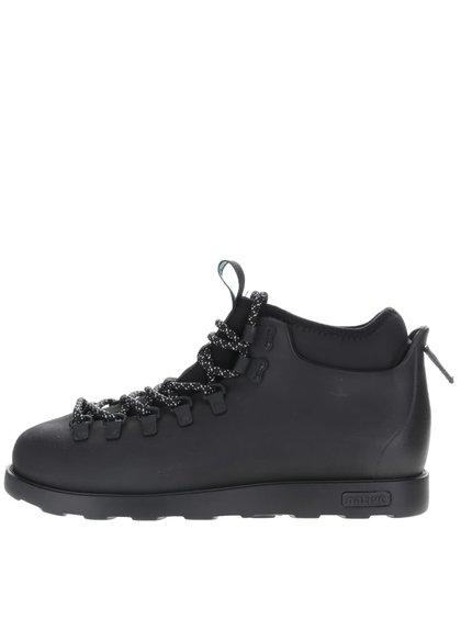 Čierne pánske členkové topánky s vsadkou Fitzsimmons Native