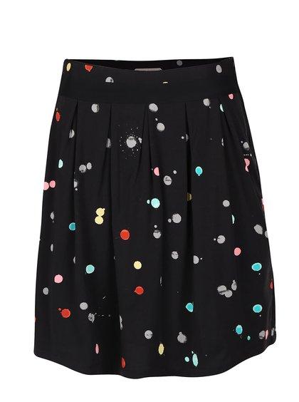 Čierna sukňa s farebnými bodkami Skunkfunk Libby