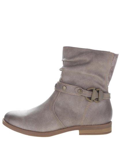 Světle hnědé kotníkové boty s páskem Tamaris