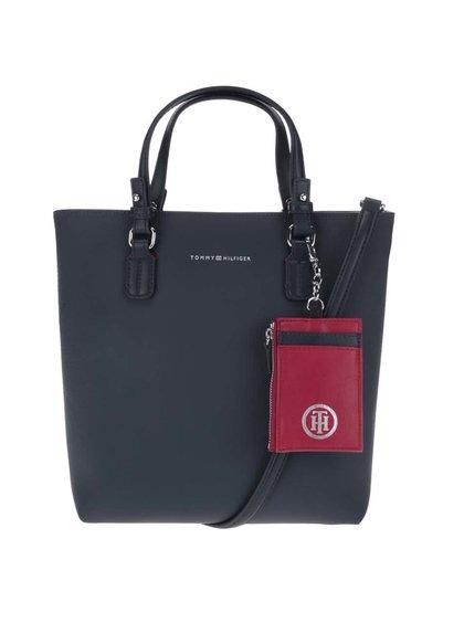 Tmavomodrá kabelka s červeným puzdrom Tommy Hilfiger