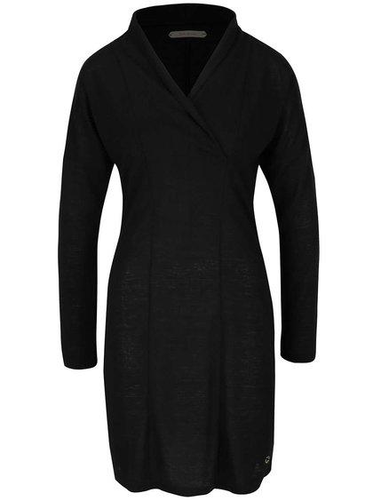 Čierne priesvitné šaty s dlhými rukávmi Skunkfunk Lorelai