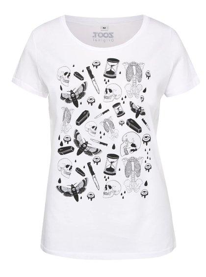 Biele dámske tričko s potlačou ZOOT Originál Tatoo