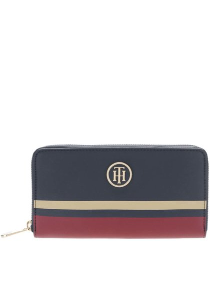 Vínovo-modrá peňaženka Tommy Hilfiger