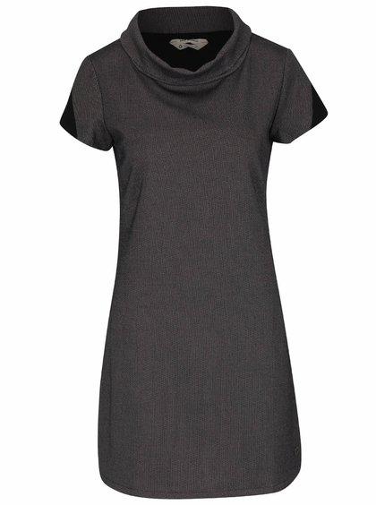 Fialovo-černé vzorované šaty s límcem Skunkfunk Aimara