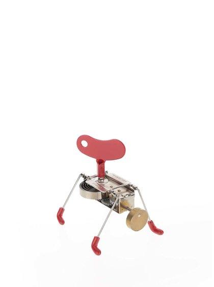 Hračka na klíček v červené barvě SPINNEY WIND UP Kikkerland