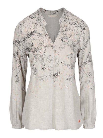 Bluză gri deschis Skunkfunk Nissa cu model