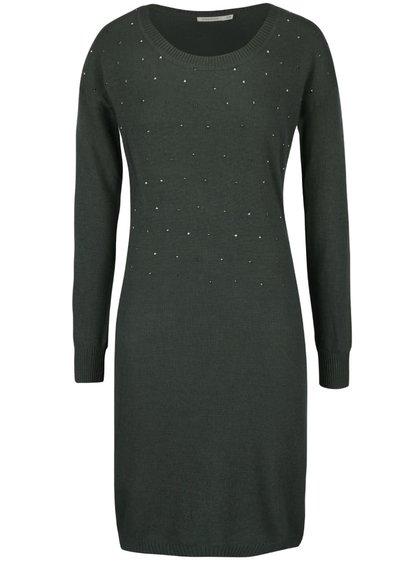 Khaki svetrové šaty Lavand