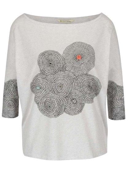 Bluză crem Skunkfunk Maindy cu print