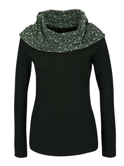Tmavě zelené tričko s límcem Tranquillo Selim