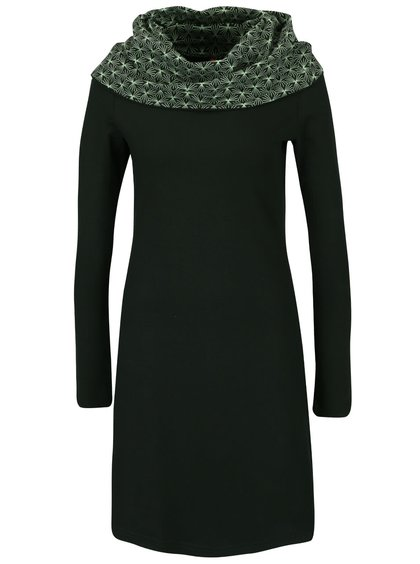Tmavě zelené šaty s límcem Tranquillo Serail