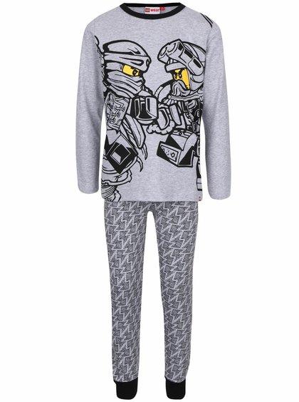 Sivé chlapčenské pyžamo s potlačou LEGO Wear Nicolai