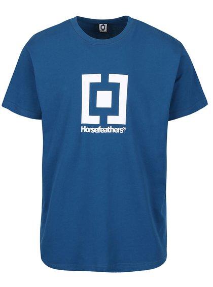 Modré pánské triko s potiskem Horsefeathers New Base