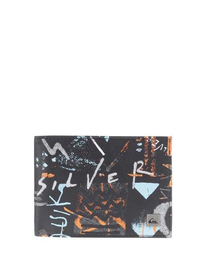 Oranžovo-čierna pánska peňaženka s potlačou Quiksilver Freshness