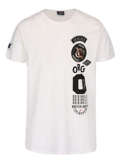 Krémové triko s potiskem Jack & Jones Originals Rides