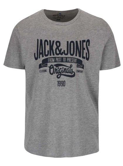 Šedé triko s potiskem Jack & Jones Rraffa