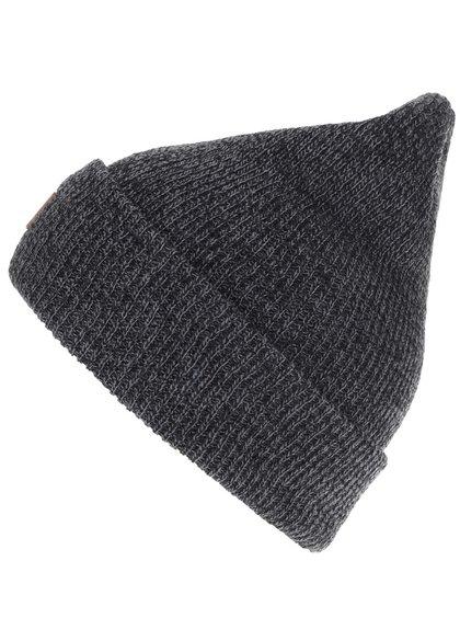 Tmavosivá pánska melírovaná čiapka s logom Quiksilver Performer