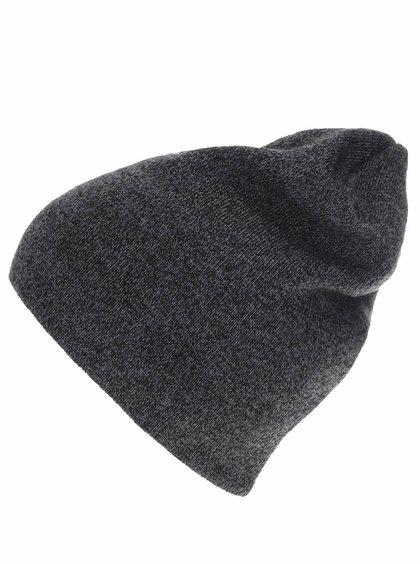 Tmavosivá pánska čapica 2 v 1 Quiksilver Heatbag