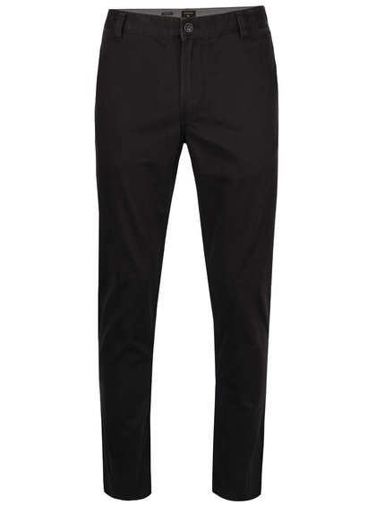 Pantaloni chino negri Quiksilver Krandy din bumbac