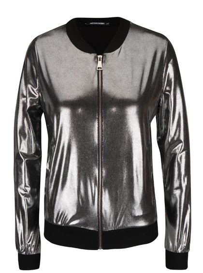 Jachetă Haily's Shiny argintie