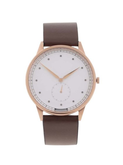 Hnedé pánske kožené hodinky HYPERGRAND