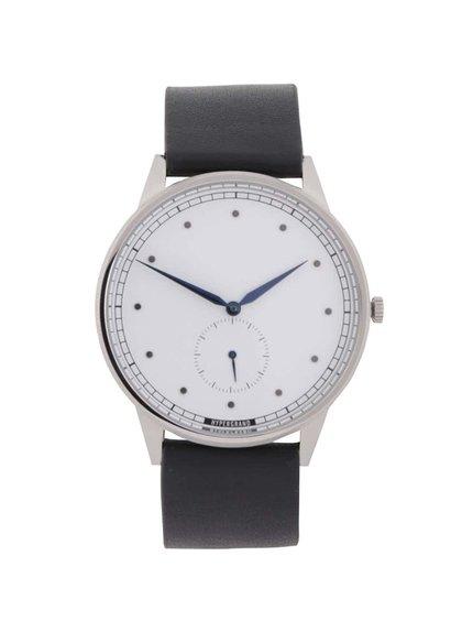 Čierne pánske kožené hodinky  HYPERGRAND