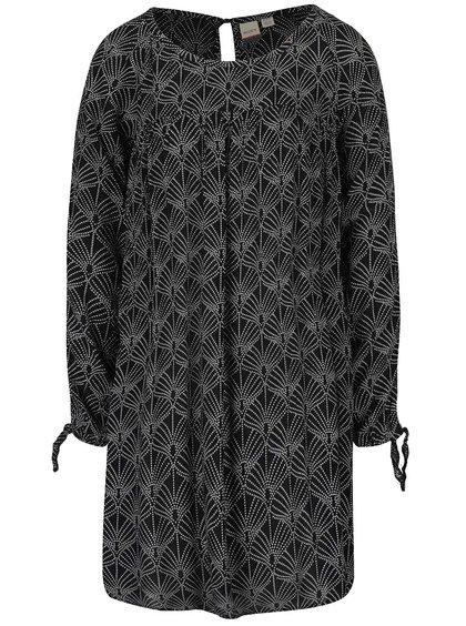 Čierne voľné vzorované šaty Roxy Definitely