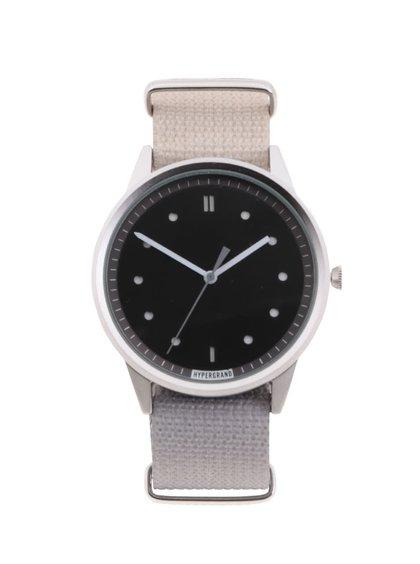 Sivé pánske hodinky s čiernym ciferníkom HYPERGRAND