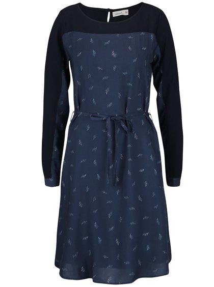 Rochie albastră Lavand cu model