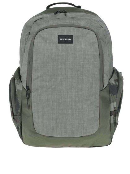 Khaki pánsky batoh s bočnými vreckami Quiksilver Schoolie
