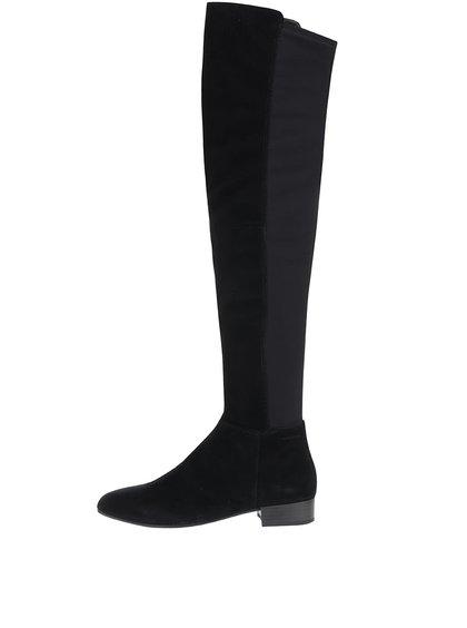 Černé dámské semišové vysoké kozačky s elastickou vsadkou Vagabond Gigi