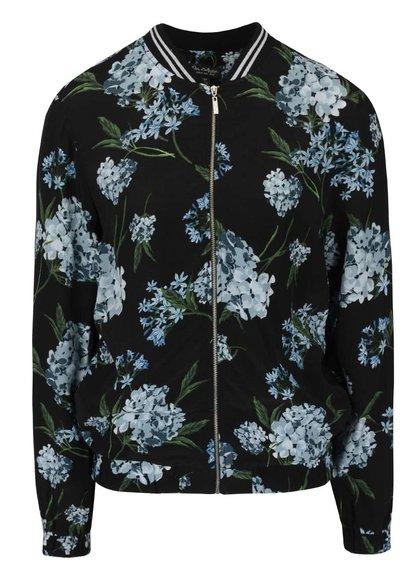 Černý bomber s květinovým vzorem Miss Selfridge