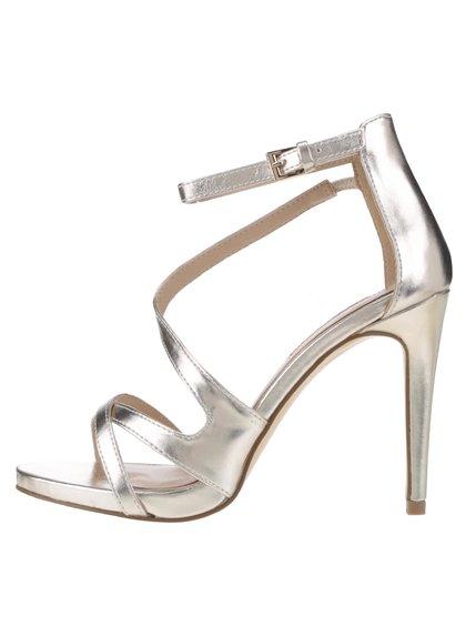 Sandale aurii Miss Selfridge cu toc