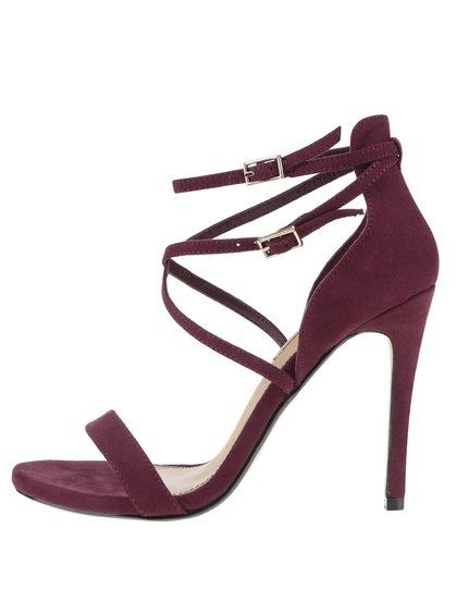 Sandale vișinii Miss Selfridge cu toc