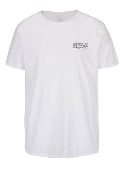 Tricou alb Quiksilver Garm din bumbac cu imprimeu