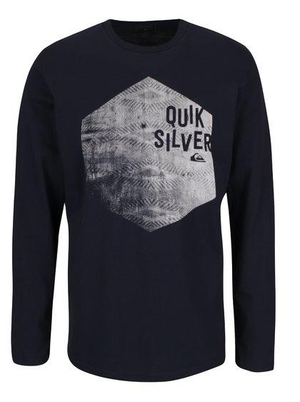 Bluză albastră închis Quiksilver Classteels Jumhe din bumbac