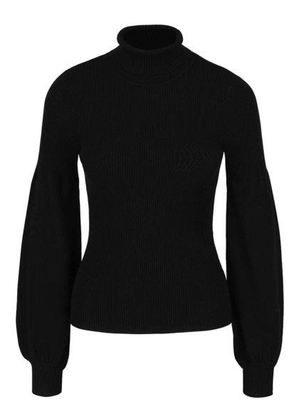 Čierny rolákový sveter s voľnými rukávmi Miss Selfridge