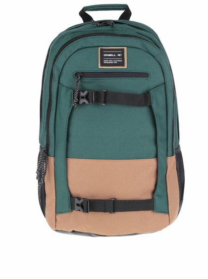 Hnedo-zelený batoh O'Neill Boarder