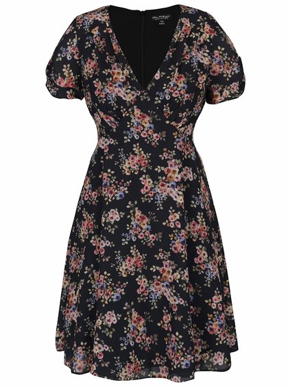 Černé šaty s květinovým vzorem Miss Selfridge