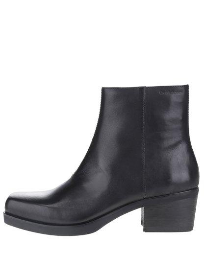 Čierne dámske kožené členkové topánky Vagabond Ariana